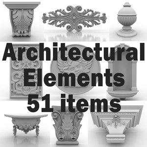 architectural elements 3d 3ds