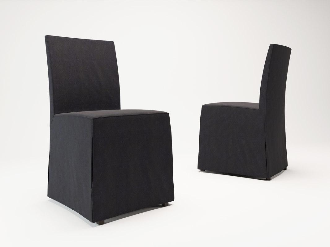 corona poliform chairs creta 3d model