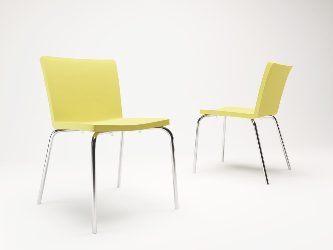 3d model corona poliform chairs nex
