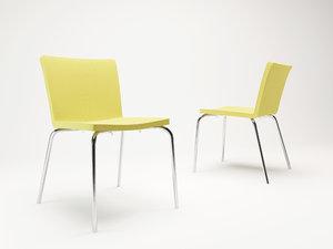 3d model corona poliform chairs nex