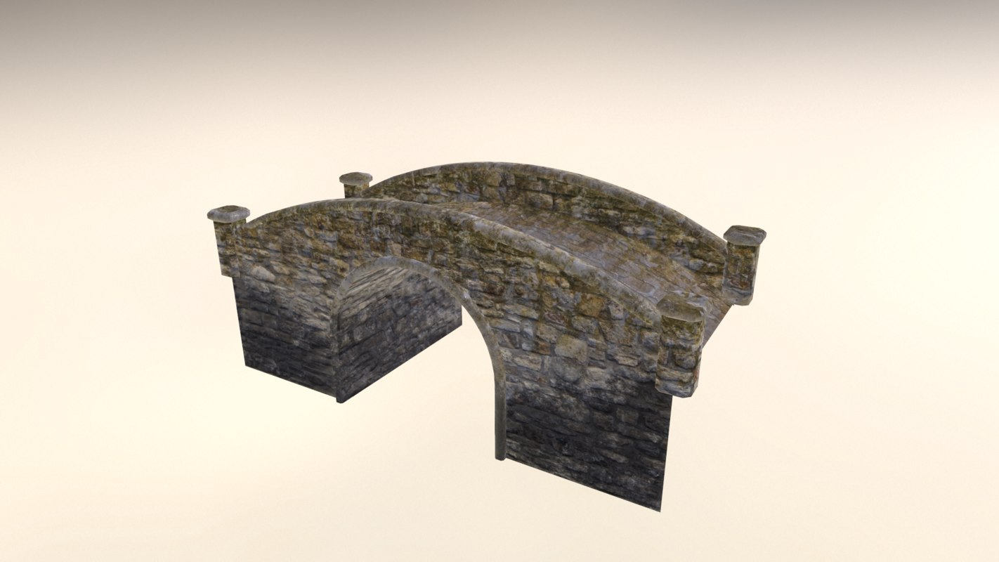 3d model of bridge stone