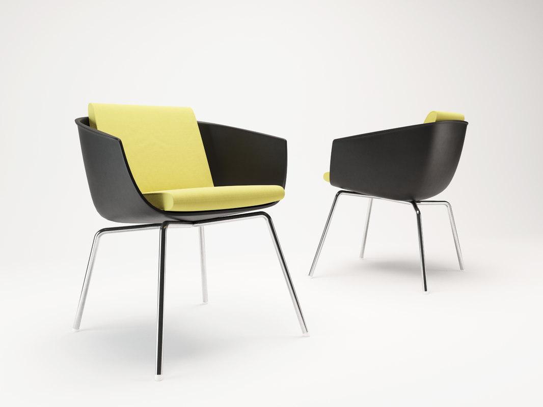 corona poliform chairs 3d model