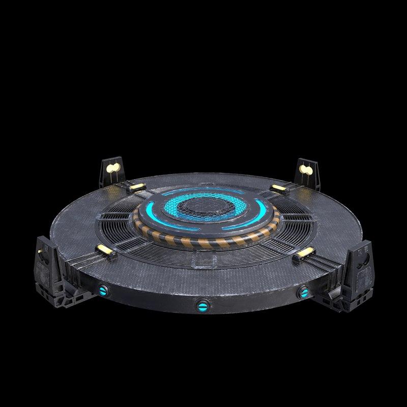 sci fi turntable 3d obj