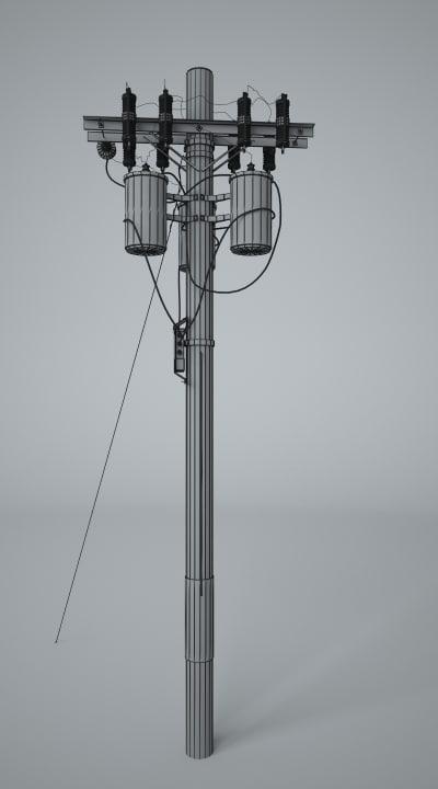 3dsmax telephone pole