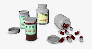 3d model pill bottles