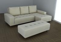 sofa chaise 3d max