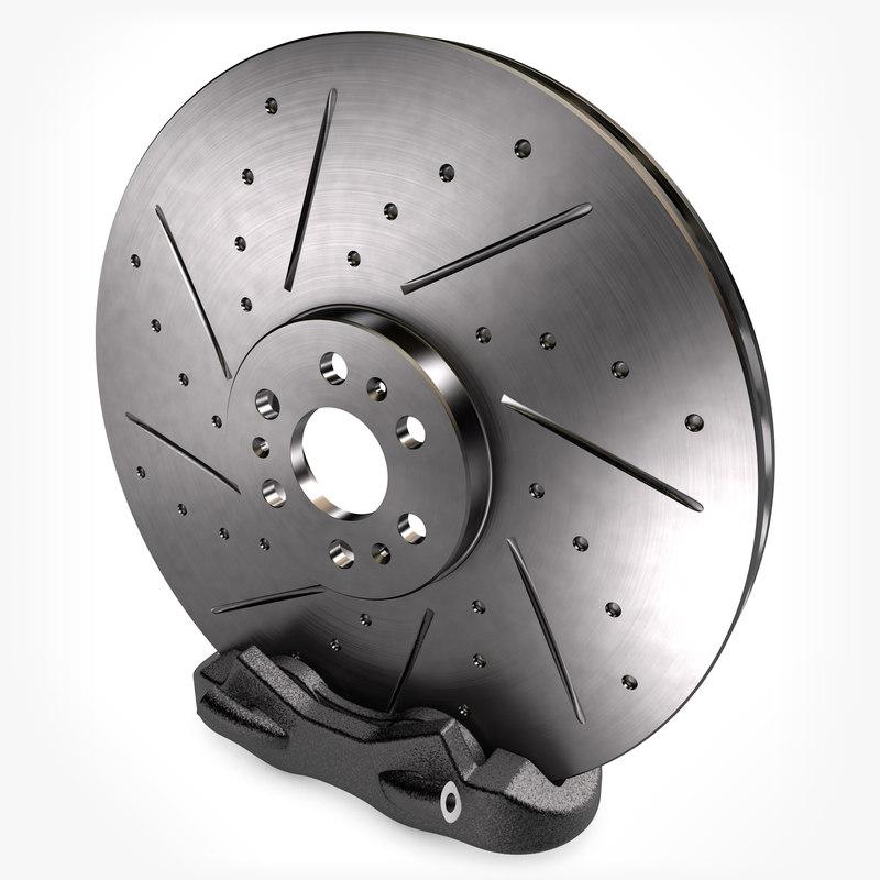 3d brake disc caliper