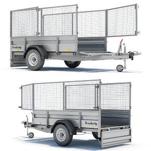 utility trailer 3d model