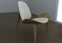 chair hans wegner 3d obj