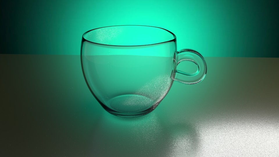 simple cup water animation 3d model