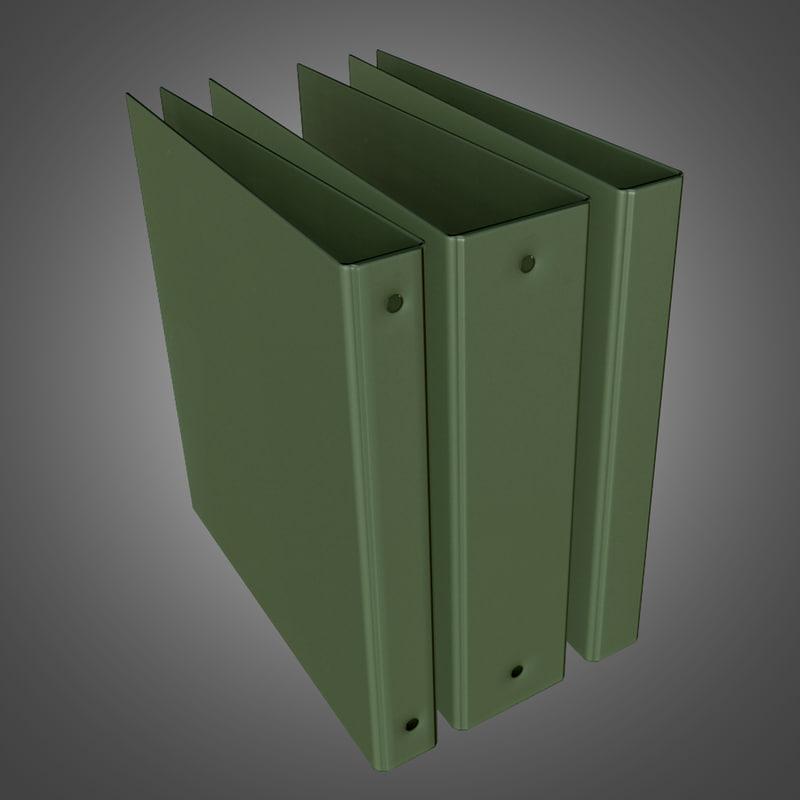 3d model office binder ready