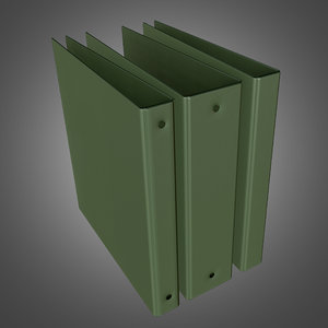 3d model office binder ready