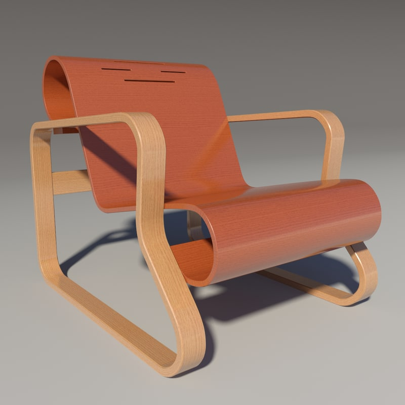 paimio chair alvar aalto 3d model