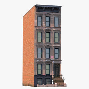 3d model house brownstone