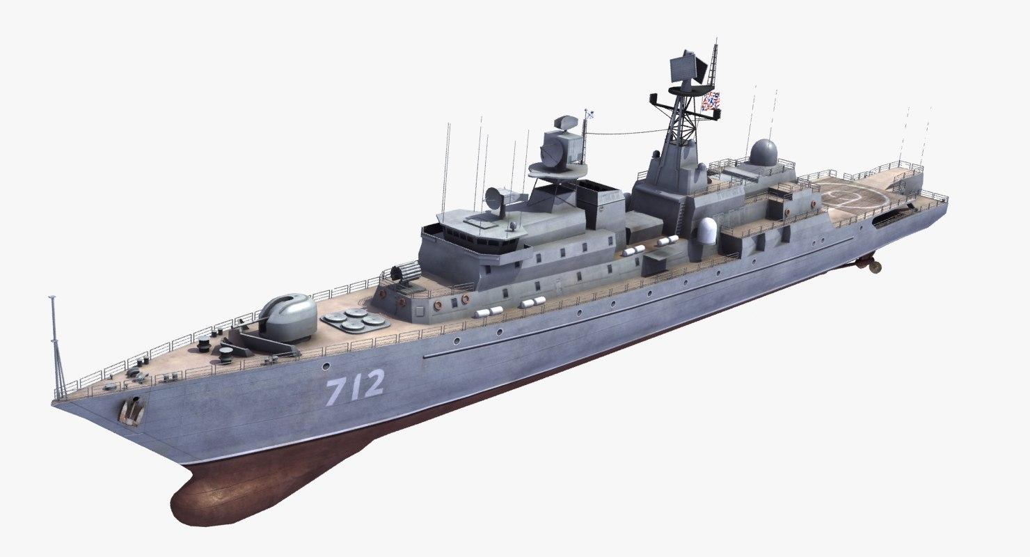 neustrashimy frigate 3d 3ds