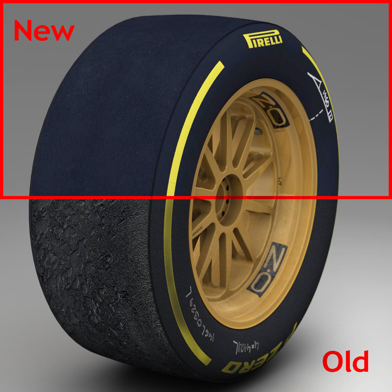 3d model pirelli tyre 18 inches