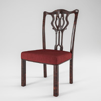 3d georgian dining chair model