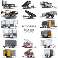 8 Utility Cargo Trailers