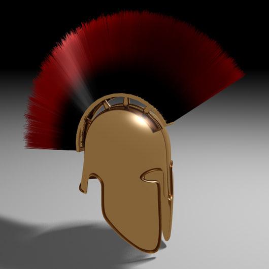 helmet greek spartan c4d