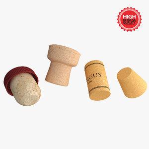 4 corks 3d 3ds