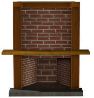Red Brick Fireplace