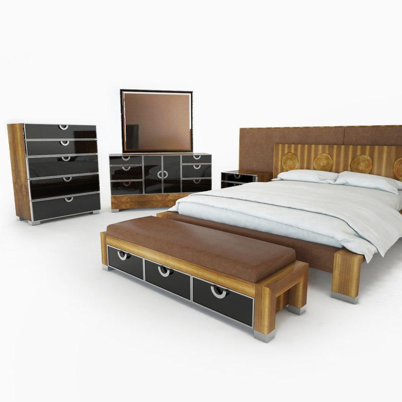 3d model exiterra bedroom bed