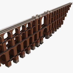 3d viaduct bridge goltzsch german model