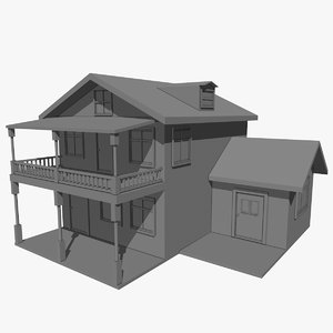 free c4d model house architecture home