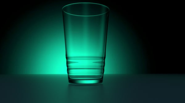 simple glass water 3d 3ds