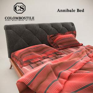 3d model colombostile annibale bed