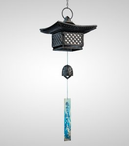 japanese wind chime 3d c4d