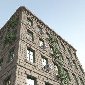 3d model building construction kit facade