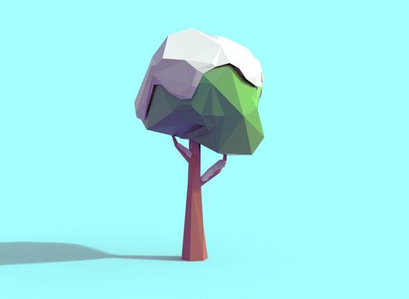 snowy tree 3d 3ds