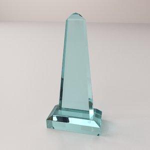 glass award 3d 3ds