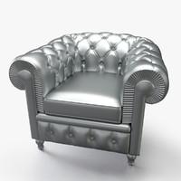 3d chesterfield basic armchair
