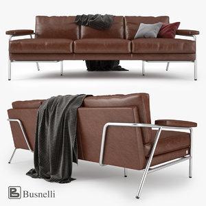 3d model busnelli carpe diem sofa