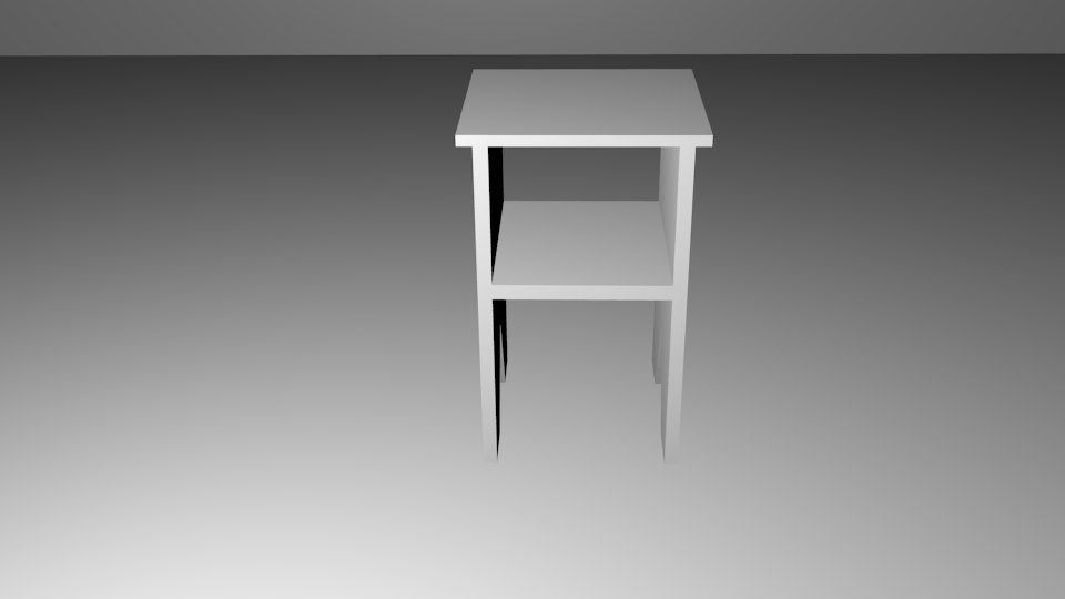3d small nightstand model