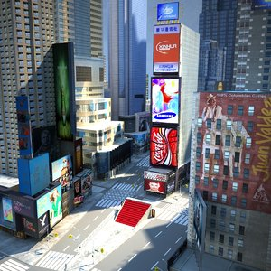 new york city -1 3d max