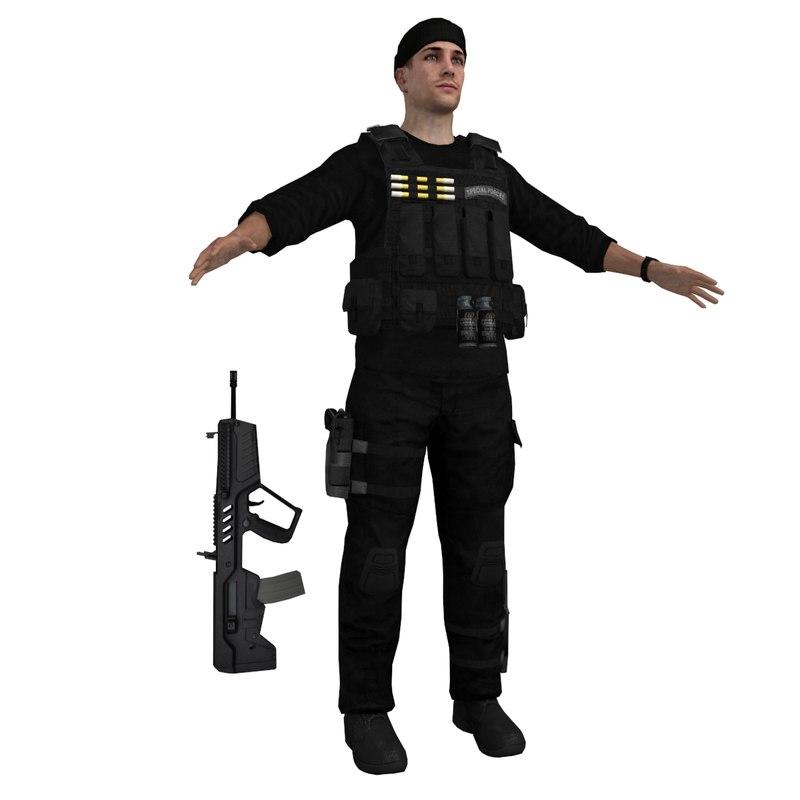 black soldier 3d model