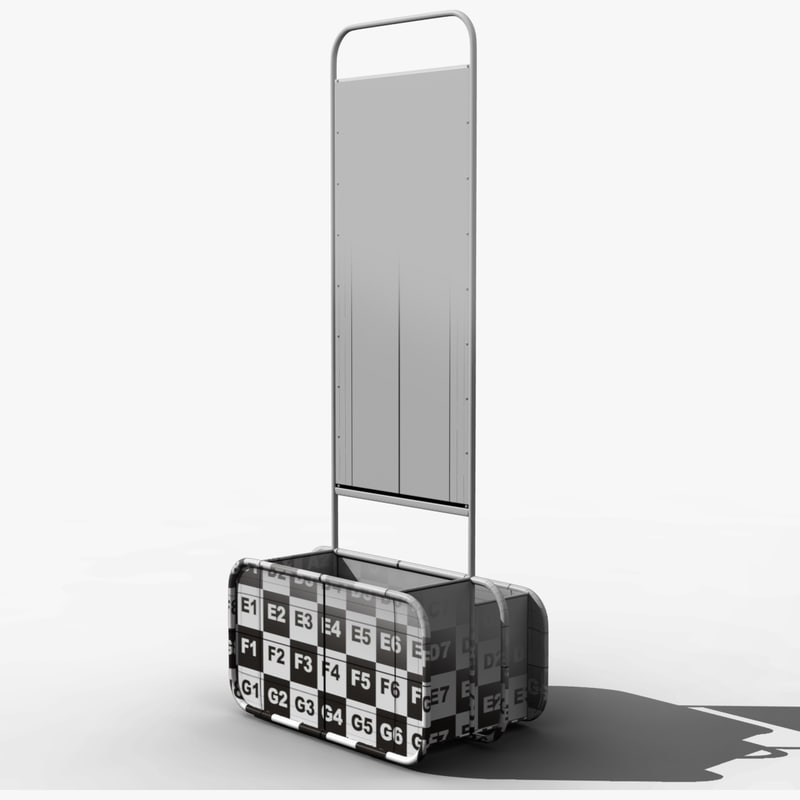 3d airport luggage cage