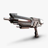 3d model sci-fi gun sci
