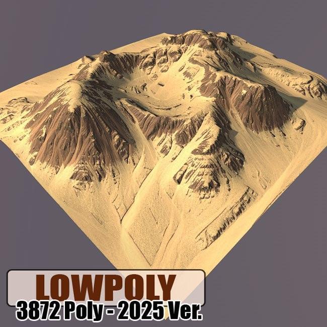 3d model mountain maps terrain