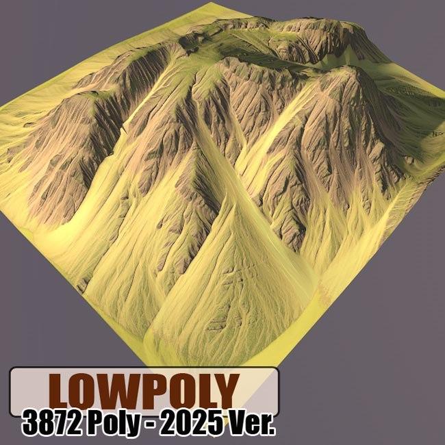 obj mountain maps terrain