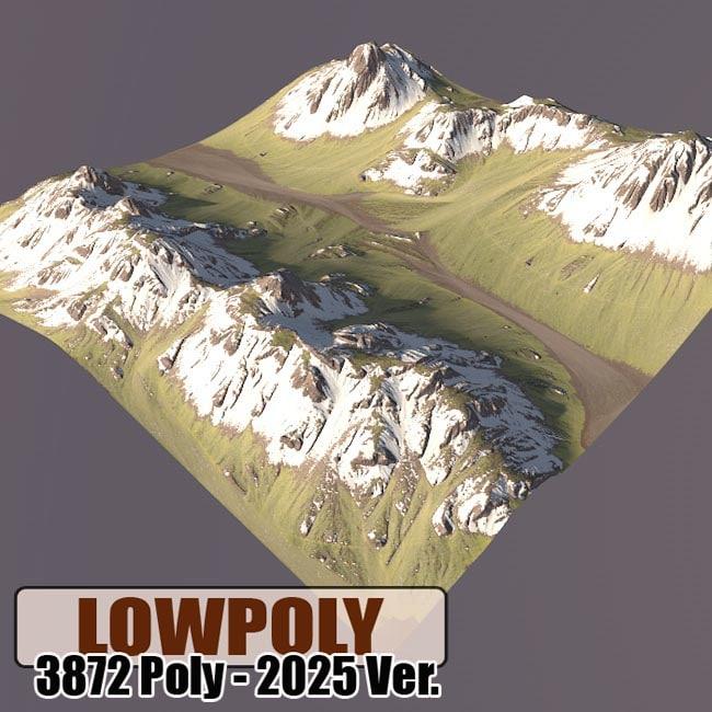 3d mountain games maps model