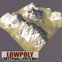 3d model mountain maps terrain