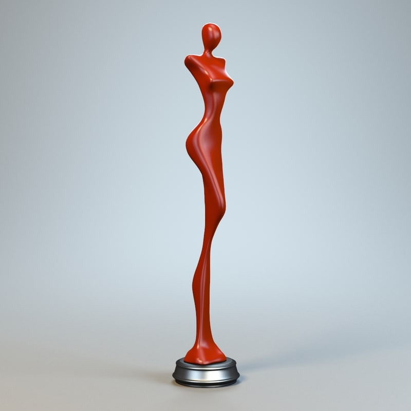 3d model woman sculpture