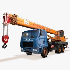 3d model crane camc