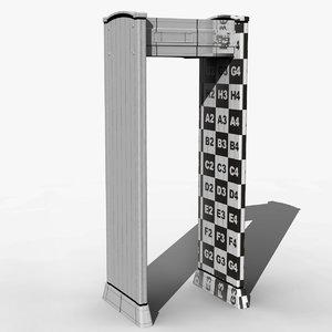 maya airport metal detector door