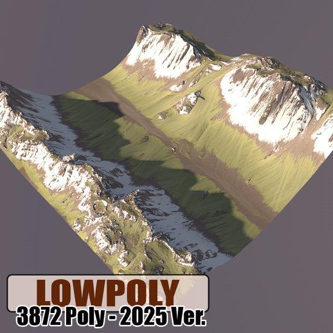 mountain maps terrain 3d model