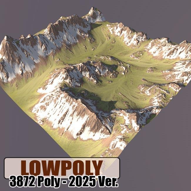 3d obj mountain maps terrain